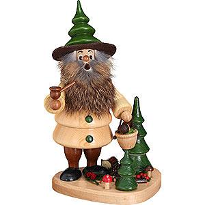 Smokers Hobbies Smoker - Woodman Mushroom Collector on Podest Natural - 21 cm / 8.3 inch