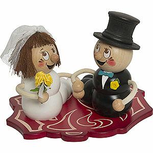 Smokers Animals Smoker - Worm Bridal Couple Rudi and Rosi - 14 cm / 5.5 inch