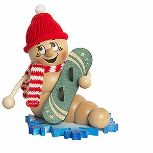 Smokers Hobbies Smoker - Worm Snowboard Rudi - 14 cm / 5.5 inch