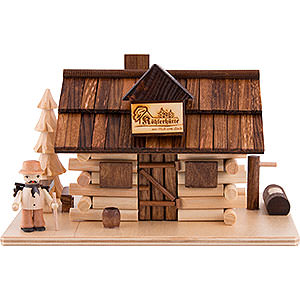 Smokers Misc. Smokers Smoking Hut - Charcoal Hut with Wood Worker and LED - 10,5 cm / 4 inch