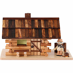 Smokers Misc. Smokers Smoking Hut - Forest Hut with Wood Worker - 10 cm / 4 inch
