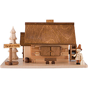 Smokers Misc. Smokers Smoking Hut - Old Mill with Wanderer - 10 cm / 4 inch
