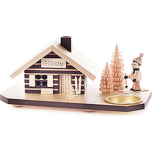 World of Light Candle Holder Misc. Candle Holders Smoking Hut - Ski Lodge - with Tea Light Holder - 10 cm / 3.9 inch