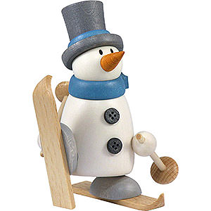 Small Figures & Ornaments Fritz & Otto (Hobler) Snow Man Fritz with Ski - 9 cm / 3.5 inch