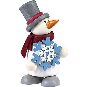 Small Figures & Ornaments Fritz & Otto (Hobler) Snow Man Fritz with Snow Flake - 9 cm / 3.5 inch