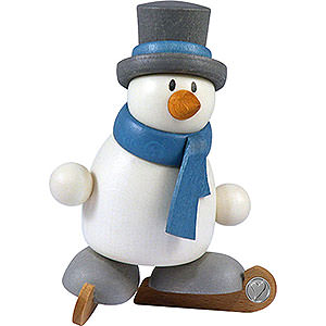 Small Figures & Ornaments Fritz & Otto (Hobler) Snow Man Otto on Ice Skates - 8 cm / 3.1 inch