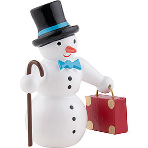 Small Figures & Ornaments everything else Snow Man with Suitcase and Top Hat - 6,5 cm / 2.5 inch