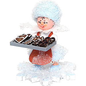 Small Figures & Ornaments Kuhnert Snowflakes Snowflake Gingerbread Baker - 5 cm / 2 inch