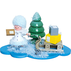 Tree ornaments Kuhnert Snowflakes Snowflake Package Deliverer - 5 cm / 2 inch