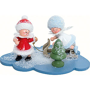 Small Figures & Ornaments Kuhnert Snowflakes Snowflake and Santa Claus - 10x7x6 cm / 4x2.8x2.3 inch