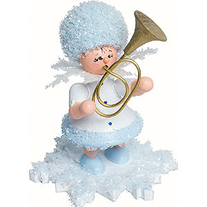 Small Figures & Ornaments Kuhnert Snowflakes Snowflake with Alto Horn - 5 cm / 2 inch