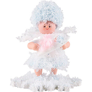 Small Figures & Ornaments Kuhnert Snowflakes Snowflake with Baby Girl - 5 cm / 2 inch