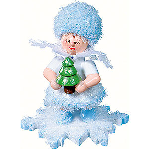 Small Figures & Ornaments Kuhnert Snowflakes Snowflake with Christmas Tree - 5 cm / 2 inch