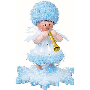 Small Figures & Ornaments Kuhnert Snowflakes Snowflake with Clarinet - 5 cm / 2 inch