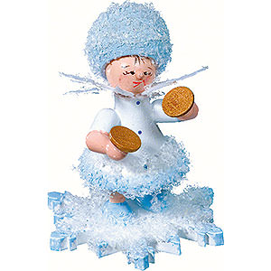Small Figures & Ornaments Kuhnert Snowflakes Snowflake with Cymbal - 5 cm / 2 inch