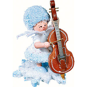 Small Figures & Ornaments Kuhnert Snowflakes Snowflake with Double Bass - 5 cm / 2 inch