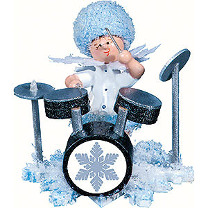 Small Figures & Ornaments Kuhnert Snowflakes Snowflake with Drum Set - 5 cm / 2 inch