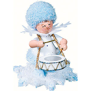 Small Figures & Ornaments Kuhnert Snowflakes Snowflake with Drums - 5 cm / 2 inch