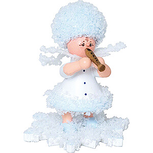 Small Figures & Ornaments Kuhnert Snowflakes Snowflake with Flute - 5 cm / 2 inch