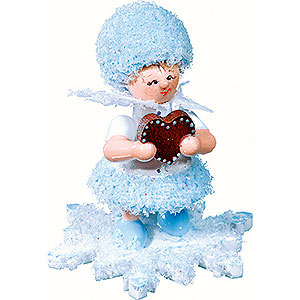 Small Figures & Ornaments Kuhnert Snowflakes Snowflake with Gingerbread Heart- 5 cm / 2 inch
