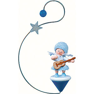 Tree ornaments Kuhnert Snowflakes Snowflake with Guitar- 12x7x3 cm / 4.7x2.8x1 inch