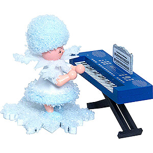 Small Figures & Ornaments Kuhnert Snowflakes Snowflake with Keyboard - 5 cm / 2 inch