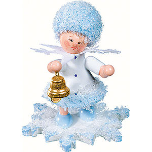 Small Figures & Ornaments Kuhnert Snowflakes Snowflake with Little Bell - 5 cm / 2 inch