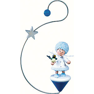 Tree ornaments Kuhnert Snowflakes Snowflake with Little Bird - 12x7x3 cm / 4.7x2.8x1 inch