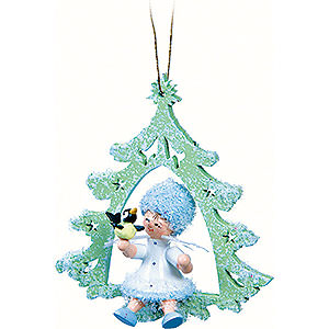 Tree ornaments Kuhnert Snowflakes Snowflake with Little Bird - 12x7x3 cm / 4.7x2.8x1.2 inch
