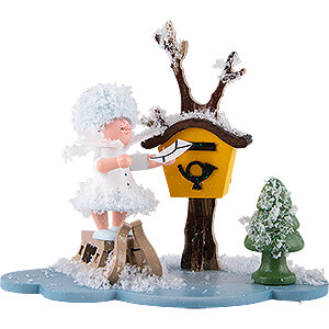 Small Figures & Ornaments Kuhnert Snowflakes Snowflake with Mailbox - 10 cm / 3.9 inch
