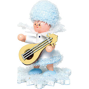 Small Figures & Ornaments Kuhnert Snowflakes Snowflake with Mandolin - 5 cm / 2 inch
