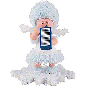 Small Figures & Ornaments Kuhnert Snowflakes Snowflake with Melodica - 5 cm / 2 inch