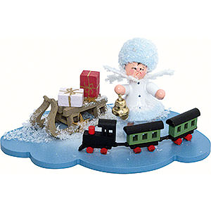 Small Figures & Ornaments Kuhnert Snowflakes Snowflake with Railroad - 10x7x6 cm / 4x2.8x2.3 inch
