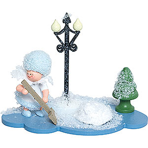 Small Figures & Ornaments Kuhnert Snowflakes Snowflake with Snow Shovel - 8 cm / 3 inch