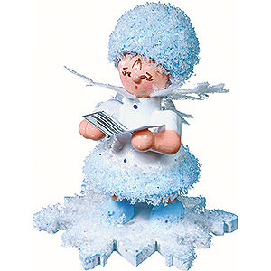 Small Figures & Ornaments Kuhnert Snowflakes Snowflake with Songbook - 5 cm / 2 inch