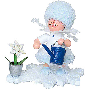 Small Figures & Ornaments Kuhnert Snowflakes Snowflake with Watering Can - 5 cm / 2 inch
