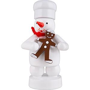 Small Figures & Ornaments Zenker Snowmen Snowman Baker with Gingerbread Man - 8 cm / 3.1 inch