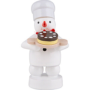 Small Figures & Ornaments Zenker Snowmen Snowman Baker with Pie - 8 cm / 3.1 inch