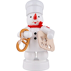 Small Figures & Ornaments Zenker Snowmen Snowman Baker with Pretzel and Star Cookie Cutter - 8 cm / 3.1 inch