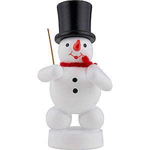 Small Figures & Ornaments Zenker Snowmen Snowman Conductor - 8 cm / 3 inch