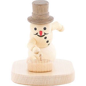 Small Figures & Ornaments Wagner Snowmen Snowman Curling Player with Stone - 8 cm / 3.1 inch