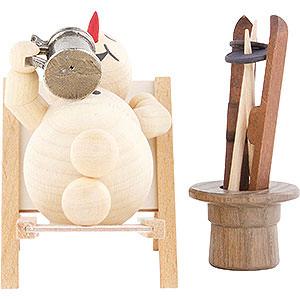 Small Figures & Ornaments Wagner Snowmen Snowman Deckchair - 12 cm / 4.7 inch