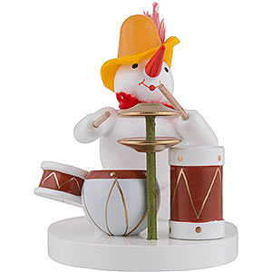 Small Figures & Ornaments Zenker Snowmen Snowman Drummer - 8 cm / 3 inch