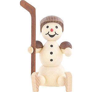 Small Figures & Ornaments Wagner Snowmen Snowman Ice Hockey Player Substitute Helmet - 8 cm / 3.1 inch