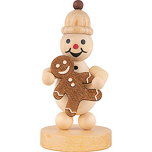 Small Figures & Ornaments Wagner Snowmen Snowman Junior with Gingerbread Man - 9 cm / 3.5 inch