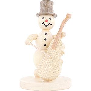 Small Figures & Ornaments Wagner Snowmen Snowman Musician Bass Violin - 12 cm / 4.7 inch