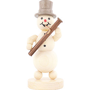 Small Figures & Ornaments Wagner Snowmen Snowman Musician Bassoon - 12 cm / 4.7 inch