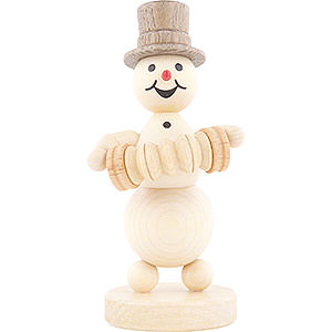 Small Figures & Ornaments Wagner Snowmen Snowman Musician Concertina Player - 12 cm / 4.7 inch