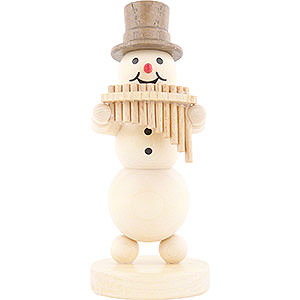 Small Figures & Ornaments Wagner Snowmen Snowman Musician Panpipes - 12 cm / 4.7 inch
