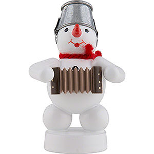 Small Figures & Ornaments Zenker Snowmen Snowman-Musician with Accordion - 8 cm / 3 inch